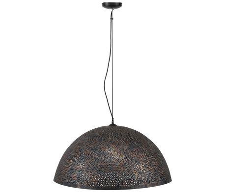 wonenmetlef Lauren Hängelampe schwarz braunes Metall Ø70x150cm