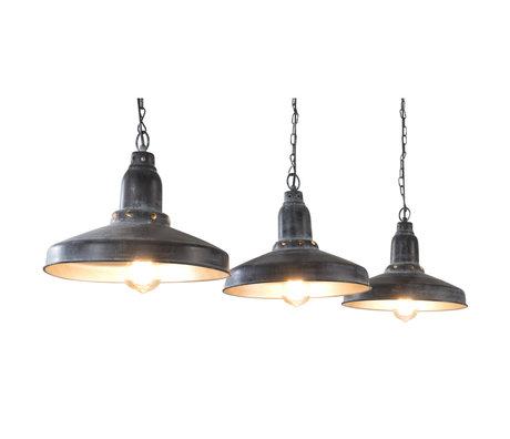 wonenmetlef Suspension Maddox à 3 lumières en métal gris foncé 140x32x120cm