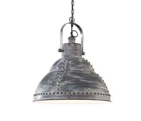 wonenmetlef Hanglamp Willow grijs staal Ø51x150cm