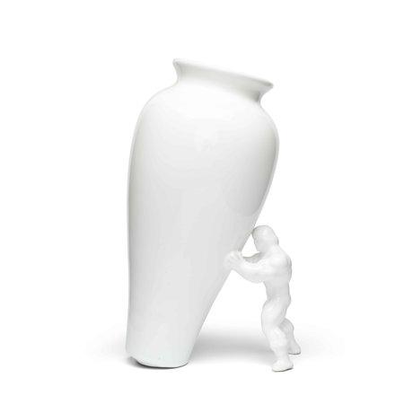 Jasmin Djerzic Vase My Superhero weiße Keramik 27,5x15x11,5cm