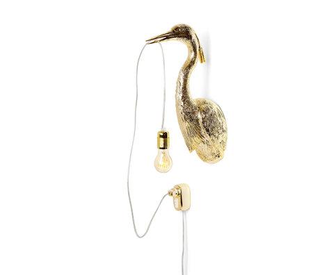 Jasmin Djerzic Wandlamp Flying Dutchman goud kunststof 16x29,5x48cm