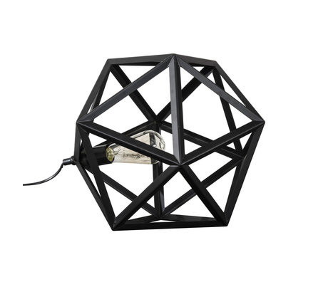 Wonenmetlef Table lamp Daaf black metal 41x41x37cm