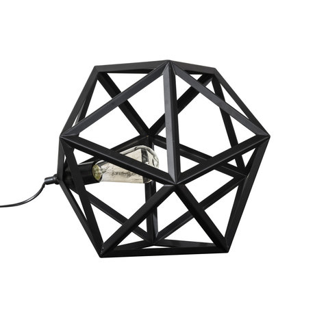 wonenmetlef Tafellamp Daaf zwart metaal 41x41x37cm