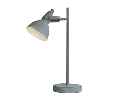 wonenmetlef Table lamp Kobe concrete gray steel 25x13x45cm