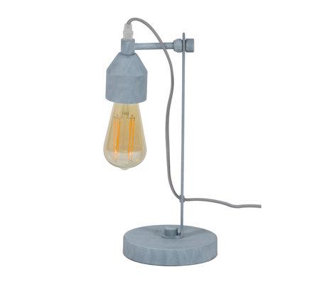 wonenmetlef Tischlampe Mink Beton grau Metall 16x14x36cm