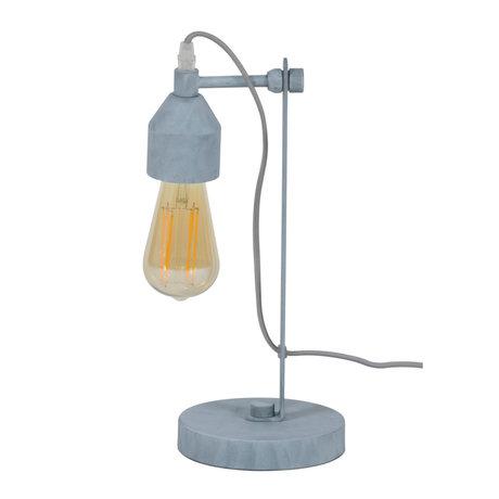 wonenmetlef Table lamp Mink concrete gray metal 16x14x36cm