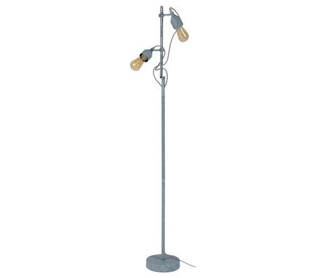 wonenmetlef Lampadaire Mink Béton 2 lumières gris métal 23x20x150cm