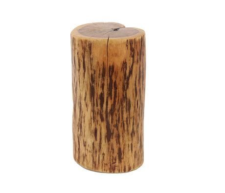 wonenmetlef Bijzettafel Brody naturel bruin massief hout 35x30x45cm
