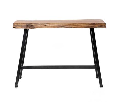 wonenmetlef Stehtisch Mae braun schwarz Holz Stahl 125x46x92cm