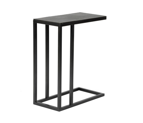 Wonenmetlef Side table Juul vintage black metal 50x25x65cm