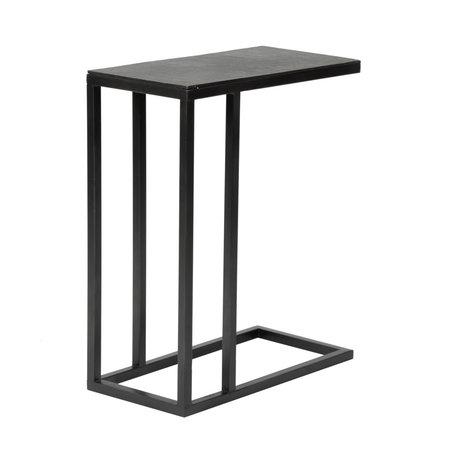 wonenmetlef Table d'appoint Juul vintage métal noir 50x25x65cm