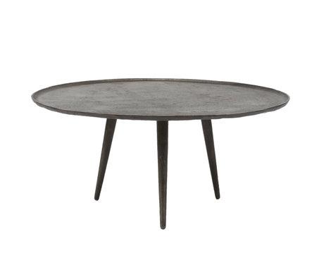 wonenmetlef Coffee table Juul vintage black metal Ø90x41cm