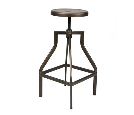wonenmetlef Barstool Jax black powder coated steel Ø35x61-79cm