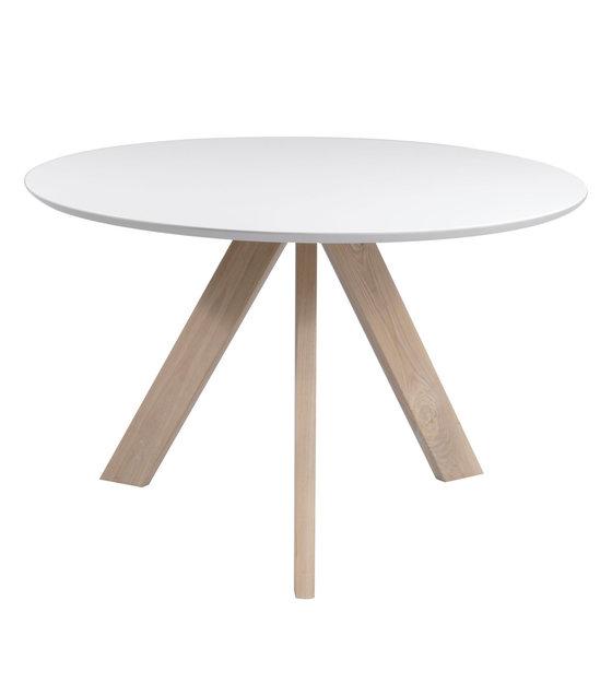 Ronde Witte Eettafel Design.Eetkamertafel Bliss Wit Naturel Bruin Hout O120x76cm