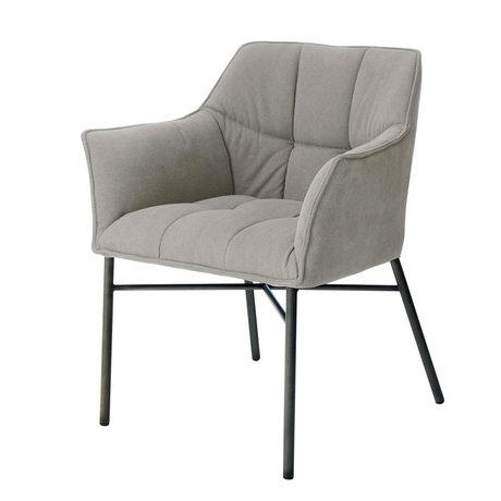 wonenmetlef Chaise de salle à manger Cece jeans gris anthracite textile 62x60x82cm