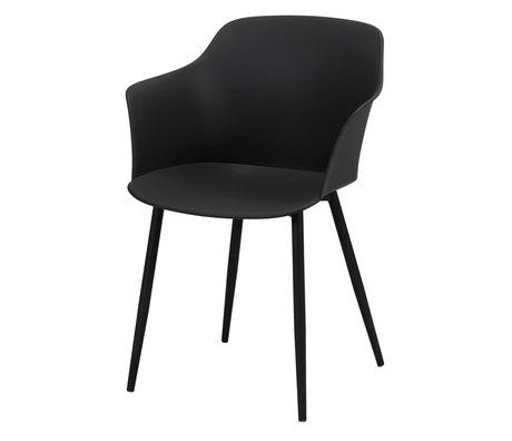 wonenmetlef Dining room chair Elena black plastic steel 59x51x82cm