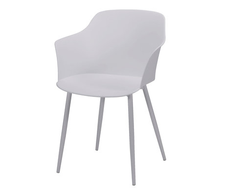 wonenmetlef Dining room chair Elena white plastic steel 59x51x82cm