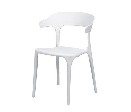 wonenmetlef Dining room chair Feby (garden) white plastic 52x52.5x77cm