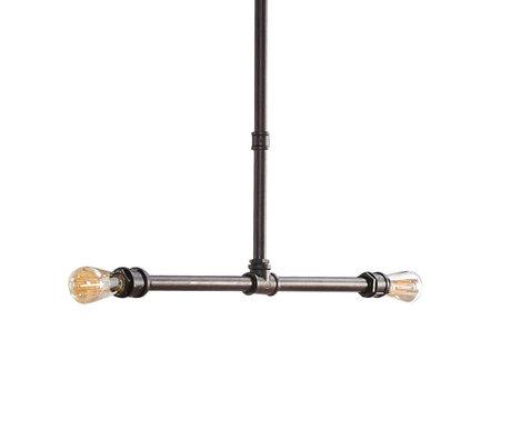 wonenmetlef Hanglamp Cef zwart metaal 80x4x140cm