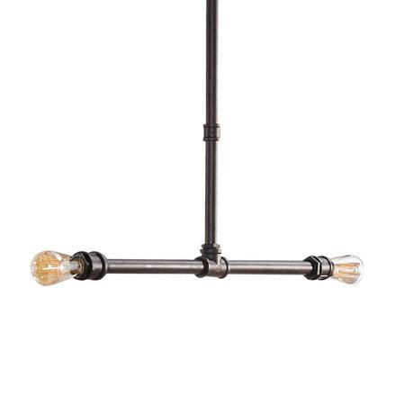 wonenmetlef Suspension Cef métal noir 80x4x140cm