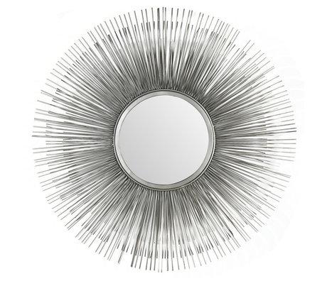 Wonenmetlef Sonny miroir en verre argenté Ø80cm