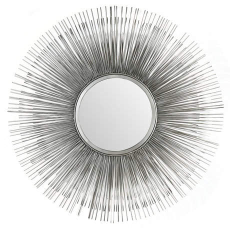 wonenmetlef Sonny mirror antique silver glass iron Ø80cm