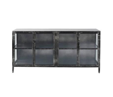 wonenmetlef Kommode Bobbie aus schwarzem Metall 180x40x92cm