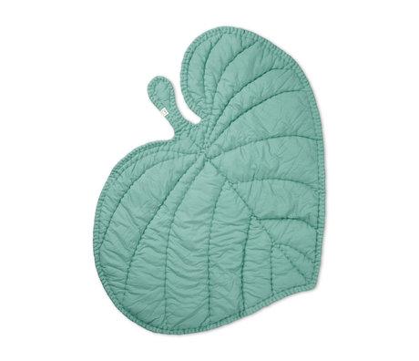 NOFRED Deken Leaf mint groen organisch katoen 110x125cm