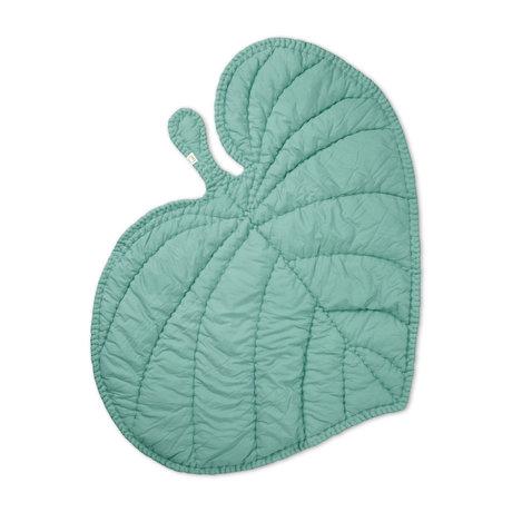NOFRED Decke Blatt mintgrüner Bio-Baumwolle 110x125cm