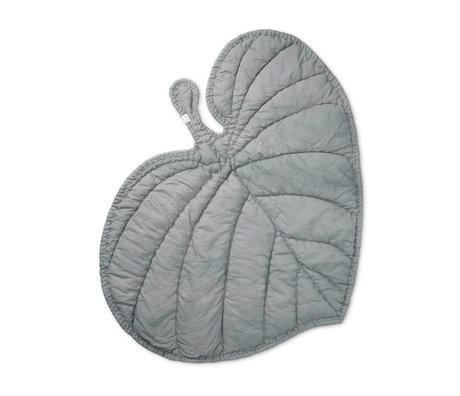 NOFRED Blanket Leaf gray organic cotton 110x125cm