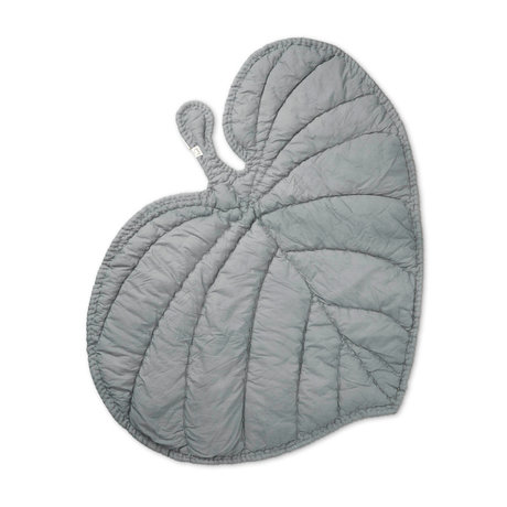 NOFRED Blanket Leaf gray organic cotton 110x125cm