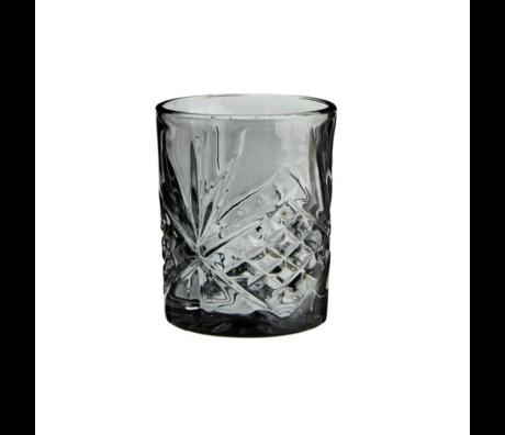 Madam Stoltz Lemonade glass gray glass ∅8x10cm