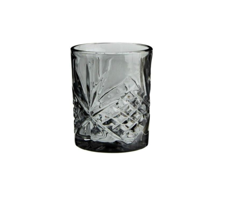 Madam Stoltz Limonadenglas graues Glas ∅8x10cm