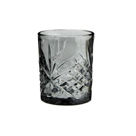 Madam Stoltz Limonadeglas grijs glas ∅8x10cm