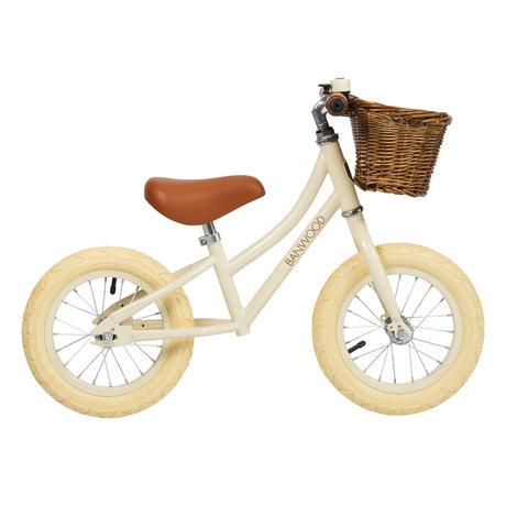 Banwood Vélo de marche pour enfants d'abord aller blanc crème 65x20x41cm