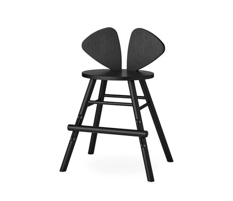 NOFRED children's stool mouse black wood 51.59x43.93x77.3cm