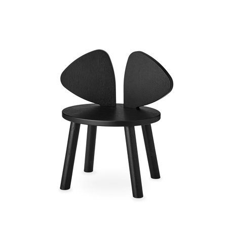 NOFRED toddler chair mouse black wood 42.5x28x46.4 cm