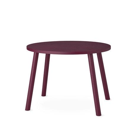 NOFRED bambin souris de table bourgogne bois rouge 60x46x43.7cm