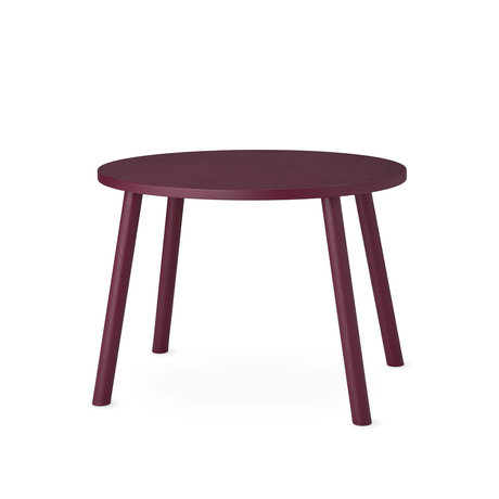 NOFRED toddler table mouse burgundy red wood 60x46x43.7cm