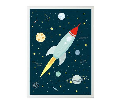 A Little Lovely Company espace affiche papier multicolore 50x70cm