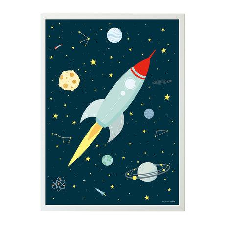 A Little Lovely Company Plakatfläche mehrfarbiges Papier 50x70cm