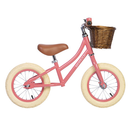 Banwood Children's walking bike first go Coral pink 65x20x41cm