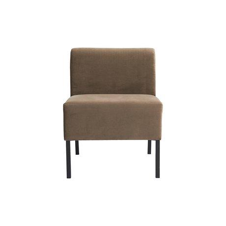 Housedoctor Sofa Fest 1-Sitzer sandbraun Textil 60x60x80cm