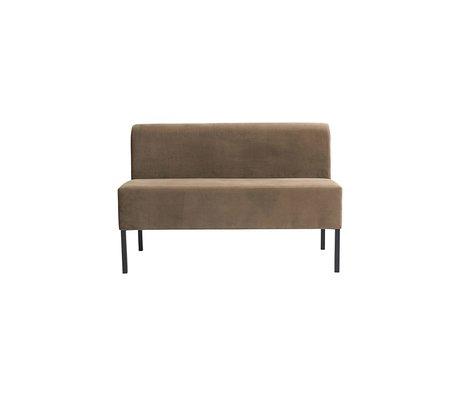 Housedoctor Sofa Fest 2-Sitzer sandbraun Textil 120x60x80cm