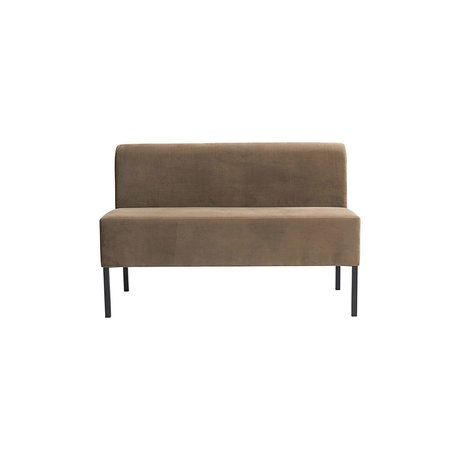 Housedoctor Sofa Feast 2-seater sand brown textile 120x60x80cm