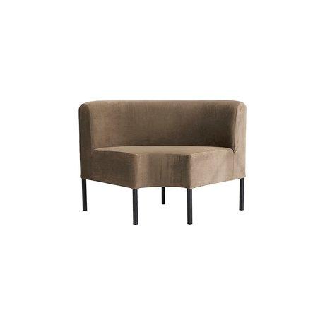 Housedoctor Elément d'angle canapé Feast, textile, brun sable 85x85x80cm