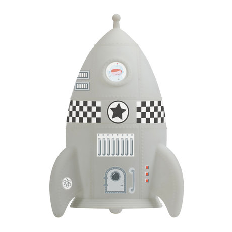 A Little Lovely Company Table lamp Rocket light gray BPA and phthalate free PVC 13x20x13cm