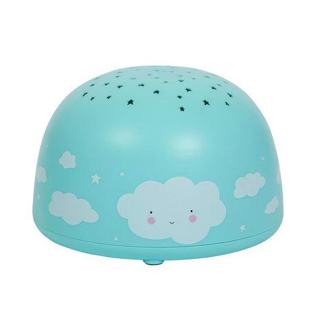 A Little Lovely Company Projektorlicht Cloud blue BPA und phthalatfreies PVC 14x9x14cm