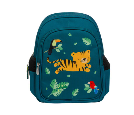 A Little Lovely Company Sac à dos Jungle Tiger multicolore en polyester 27x32x15cm