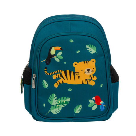 A Little Lovely Company Rugzak Jungle tijger multicolour polyester 27x32x15cm